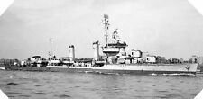 6x4 Gloss Photo wwAFF Normandy Naval Photo USS Plunkett