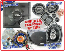 "BULK BUY: Car Audio System Package Amplifier 6x9 6""split Speakers 8GA Wiring Kit"