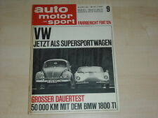 59509) BMW 1800 ti - Sunbeam Alpine V - Fiat 124 - AMS 09/1966