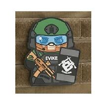 "OD Epik Panda ""Evike Matt"" PVC Rubber Hook and Loop Morale Patch"