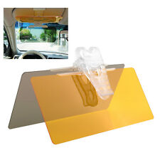 2 in 1 Car Van Anti-Glare Night Vision mirror Glare Clip Sun Visor Yellow*