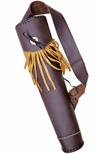 NEW TRADITIONAL BUFFLO LEATHER BACK ARROW HAND MADE QUIVER ARCHERY PRODUCT AQ105