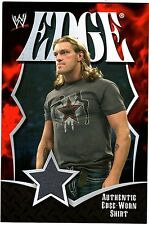WWE Edge 2008 Topps Collectors Set Jumbo Authentic Event Worn Shirt Relic Card D