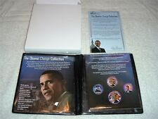 THE OBAMA CHANGE COLLECTION BY FIRST COMMEMORATIVE MINT FOUR COLORIZED COINS NIB