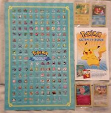 TOYS R US EXCLUSIVE POKEMON PROMO CARDS COMPLETE SET PLUS POSTER & ACTIVITY BOOK