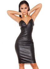 HOUSE OF CB 'Syana' Black Leatherette and Lace Bralet Dress 'FAULTY' SS 5160