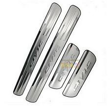 4 Stainless Steel Scuff Plate Door Sill Entry Guard For Civic 06-2015 USA!