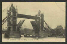 1910's #53 LONDON The Tower Bridge Looking North West ENGLAND POSTCARD
