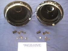 """COPPIA 7"""" FARI PROIETTORE in plastica ciotola Secchio Kit MG Mini Triumph LAND ROVER"""