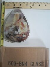 FREE US SHIPPING ok touch lamp replacement glass Panel Lighthouse Angel 603-BN4