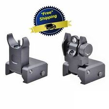 Ar Tactical Flip Up Front Rear Sight Sights Set Ring Iron Black Dual Aperture US