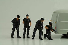 Police Polizei Swat Team Set 4 Figurines Figur 1:18 Figures American Diorama