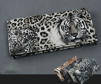 Fashion Lady Tiger Leopard Print Long Wallet Purse Coin Bag Card Holder Clutch