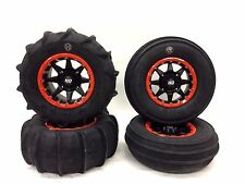 "GMZ SAND STRIPPER PADDLE TIRES 28"" STI HD5 ORANGE BEADLOCKS RIMS YAMAHA YXZ1000"
