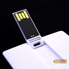 100PCS 128MB Credit Card Memory Flash USB Drives No Data Lose Pendrive 2.0 White