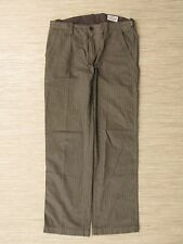 Hugo Boss Brown Flat Front Pants Men's Size 50 Zipper Fly Casual Trousers Nice