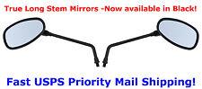 Black Long Stem Motorcycle Mirrors - Suzuki Bandit GSF 400 600 650 750 1000 1200