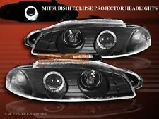 97 98 99 Mitsubishi Eclipse Projector Headlights Black with One Halo