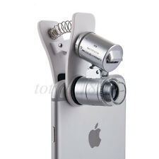 ZOOM 60X LED UV Clip Magnifier Microscope Micro Lens For Mobile Phone Camera