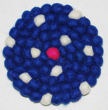New Felt Ball Coaster Mat Fairly Traded Ethical Boho Hippy Nepal New Age Hippie