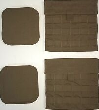 USMC COYOTE MTV IMTV SIDE PLATE CARRIER POCKET & 2 HIP PADS NEW