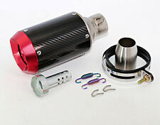Motorcycle Race CNC Red Tip Carbon Fiber Exhaust Muffler Silencer Pipe 102*140mm