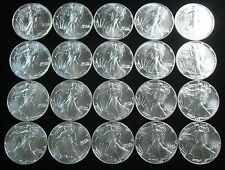 1988 American Silver Eagle Roll of 20 Uncirculated/ BU Coins   - Item# 4384