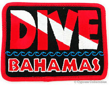 DIVE BAHAMAS - EMBROIDERED PATCH SCUBA DIVING FLAG LOGO IRON-ON TRAVEL SOUVENIR
