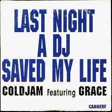 COLDJAM - LAST NIGHT A DJ SAVED MY LIFE - FRENCH CARDBOARD SLEEVE CD MAXI