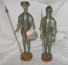 Vintage Don Quixote Man La Mancha And Knight in Shining Armor Folk Art Figures
