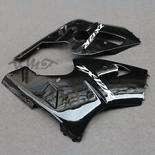 L+R Low Part Fairing Bodywork For Kawasaki Ninja ZX12R 2000 2001 Bright Black