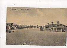 West RGA Barracks Quetta India Vintage Postcard 214b