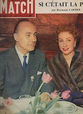 paris match n°215 charles boyer danielle darrieux 1953