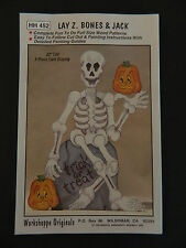 "Workshoppe Originals Lay Z. Bones & Jack 32"" Woodworking Pattern #HH452 Unused"