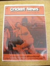12/08/1978 Cricket News: Vol.02 No.15 - A Weekly Review Of The Game, Schweppes &