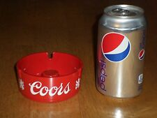 COORS Beer, Vintage Red Colored Plastic Resin Tobacciana Ashtray