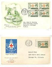 CANADA BOY SCOUTS SCOTT #356 STAMP ON TWO FDC FIRST DAY COVERS BOTH USED 1955