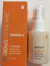 Serious Skincare Serious-C C Power Enzymatic Facial Beauty Treatment 1 oz NEW