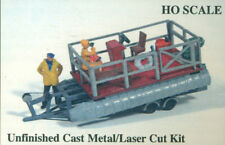 Vintage Pontoon with Trailer Accessories Kit HO Scale 1:87 JL Innovative Design