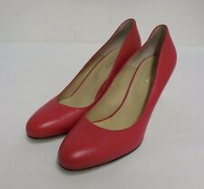 Lovely Hobbs Italian Made Leather Court Shoes Red 41 UK 8 US 10