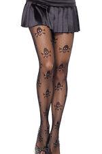 Black Sexy Skull & Bones Net Pantyhose Fashion Fishnet Tights Gothic Punk Fetish
