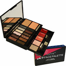 Technic 24/7 Face Palette Make-up Kit Eyeshadows LipGloss Bronzer Blusher Gift