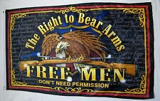 The Right To Bear Arms Second Amendment Flag 3' x 5' Gun Right & Freedom Banner