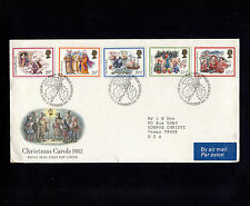 1982 Britain Edinburgh Christmas Carols FDC 21216