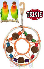 TRIXIE BIRD CAGE TOY 100% NATURAL MATERIALS, Wicker, Coconut Fibres and Wood