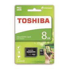 Carte Mémoire Micro SDHC Class 4 + adaptateur SD  Toshiba / 8GB