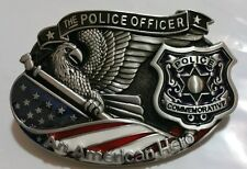 THE POLICE OFFICER AN AMERICAN HERO BELT BUCKLE GREAT DESIGNS & QUALITY AMAZING