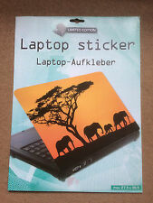 Laptop Cover Skin Sticker - African Elephants - 27.5 x 36.6cm