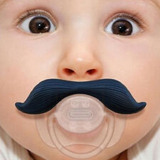 Funny Dummy Dummies Pacifier Novelty Teeth Moustache Baby Child Soother JS