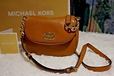 NWT Michael Kors BEDFORD Small Flap Crossbody Bag Pebbled Leather In ACORN $178